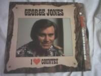 Vinyl LP I Love Country – George Jones Epic 54941 Stereo 1986