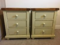 Two 3-Drawer Bedside Tables from Oak Furniture Land