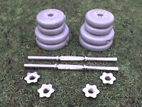 41.8 lb 19 kg Grey Spinlock Dumbbell & Barbell Weights