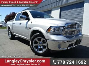 2016 RAM 1500 Laramie ACCIDENT FREE w/ 4X4, LEATHER UPHOLSTER...