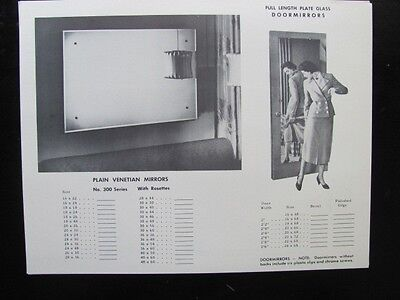 1957 BASSETT Mirror Co VA Venetian Tile Frame Shadow Box Door Catalog Price List