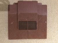 Plastic tile vent- terracotta