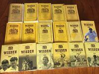 job lot of Wisden Cricket Almanacs 17 books