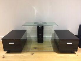 Glass / Black Gloss TV Stand