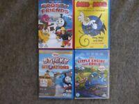 4x DVDs Films for children Ucert. Thomas(3) Meg,Mog and Owl
