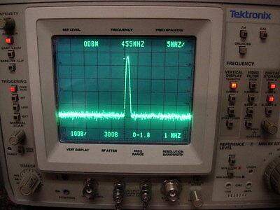 Tektronix 492 Tek Spectrum Analyzer Opt 123 Works