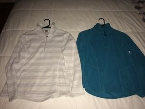 TWO Womens' Size XS Fleece Pullovers...BOTH for just $10!!!