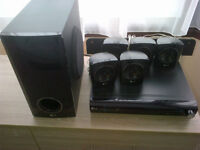 LG DVD Player and Cinema Sound Speakers (inc. Large Home Cinema Subwoofer)