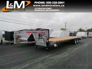 "NEW 2019 N&N GALVANIZED GOOSE-NECK EQUIPMENT TRAILER- 102""X30'"