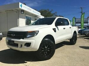 2012 Ford Ranger PX XL Double Cab White Semi Auto Utility Southport Gold Coast City Preview