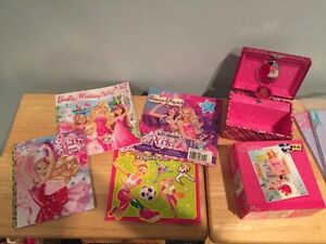 Barbie books, jewelry box and puzzle - all for $5 London Ontario image 2