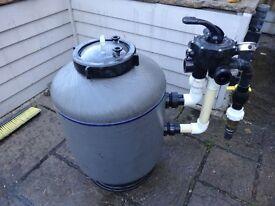 Koi pond bead filter, air pump, blower for filter