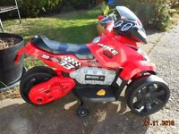 Boys Electric Battery Operated Red Motorbike