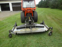 Finishing mower for tractor and swivel blade!