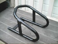 Motorcycle Stand with Concrete Anchor Bolts