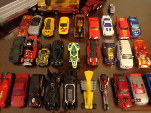Collection of Toy Vehicles:  Includes 33 Hot Wheels!