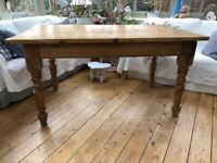 Characterful Solid Vintage Pine Dining Table