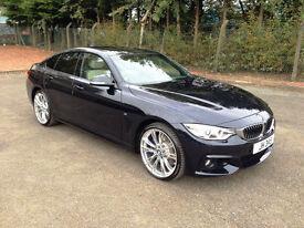 2015.65. BMW 435 3.0TD Gran Coupe 5 Door M Sport Xdrive 4x4 Carbon Black