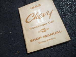1963 Chevrolet original shop manual supplement