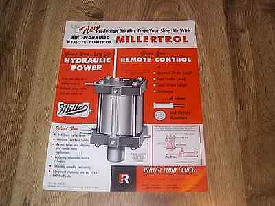 Miller Fluild Power Air-hydraulic Remote Control Millertrol Brochure Illus 1963