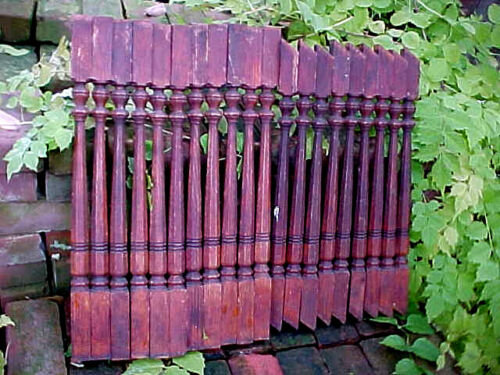 20 ANTIQUE VICTORIAN SPINDLES BALUSTER STAIR RAILING RAIL WOOD OAK ARCHITECTURAL
