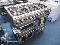 EX-DISPLAY ALL GAS 6 BURNER HOB HOTPOINT RANGE COOKER REF: 11082