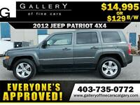 2012 Jeep Patriot NORTH 4WD $129 bi-weekly APPLY NOW DRIVE NOW
