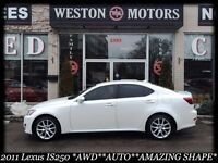 2011 Lexus IS 250 *AWD*AUTO*PEARL WHITE*FULLY LOADED*