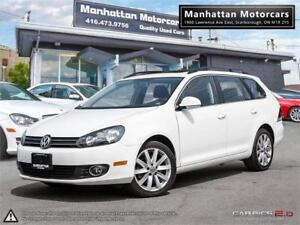 2012 VOLKSWAGEN GOLF WAGON HIGHLINE TDI DIESEL |PANO|NAV|LEATHER