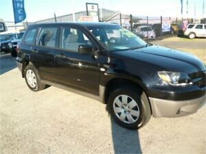 2004 Mitsubishi Outlander ZE LS Black 4 Speed Auto Sports Mode Wagon Wangara Wanneroo Area Preview