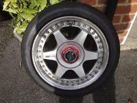 four split rim wheels and tyres