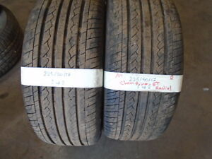 PAIR USED ALL SEASON TIRES  225-50-17{ CHAMPIRO } R.H AUTO