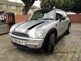 2002 MINI ONE AUTO SILVER 80,260miles, Half LEATHER SEATS, NEW Tyres/Brakes/Battery, Air/Con, Clean