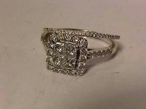 #916-14K W/Gold W/SET-PRINCESS CUT/HALO STYLE-APPRAISED-$3,150.00-Size 6 5/8-Yours for $895.00-Appraisal Included