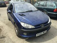2003 Peugeot 206 diesel, starts and drives well, MOT until 28th August, car located in Gravesend Ken
