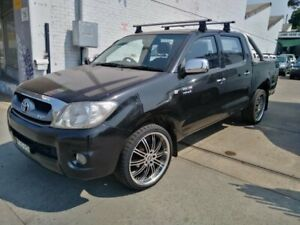 2009 Toyota Hilux GGN15R 09 Upgrade SR5 Black 5 Speed Automatic Dual Cab Pick-up
