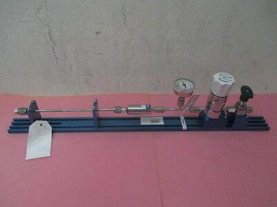 Kinetics high purity gas stick Tescom 60 regulator, Swagelok 6LV-DAVR4-P, gauge