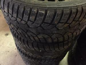 4 General Altimax Artic Winter Studded Tires on Rims