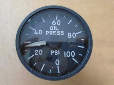 Aircraft 0-100 psi Oil Pressure Gauge 2 inch diameter courter inc 18-1672-3