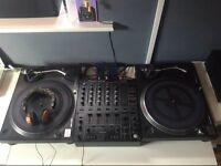 SOLD - Technics 1210's, Pioneer Mixer and Serato