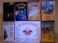 SANREMO '94, PLATTERS, JAZZ-CLUB, OKLAHOMA, MONSTER ROCK, SWISS FOLKLORE, STEEL DRUMS CASSETTE TAPES