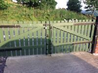 Wooden timber drive gates