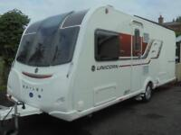 2017 Bailey Unicorn Vigo 4 Berth Caravan For Sale.Fixed Island Bed.Motormover