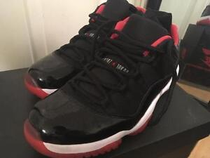Air Jordan 11 Retro Low- Black/True Red White