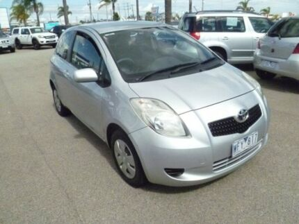 2008 Toyota Yaris NCP90R YR Silver 5 Speed Manual Hatchback Heatherton Kingston Area Preview