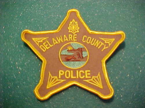 DELAWARE COUNTY INDIANA POLICE PATCH SHOULDER SIZE UNUSED