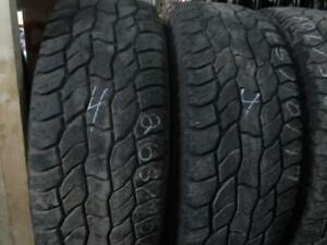 265/70R17 SET OF 4 USED COOPER A/S TIRES