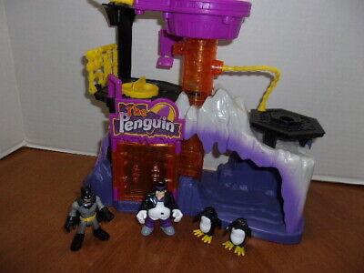 Imaginext The Penguin Lair Headquarters Play Set With Penguin Batman + Penguins