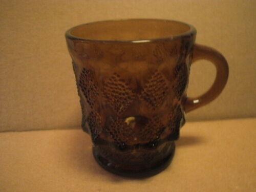 Vintage - Amber Glass Anchor Hocking Fire King KIMBERLY Coffee Mug - Diamond