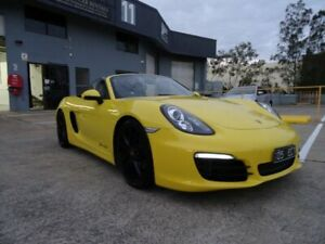 2016 Porsche Boxster 981 MY16 Racing Yellow & Black Roof 7 Speed Auto Dual Clutch Roadster Sunnybank Hills Brisbane South West Preview